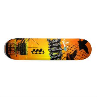 rei do combustível da sucata do mia shape de skate 18,4cm