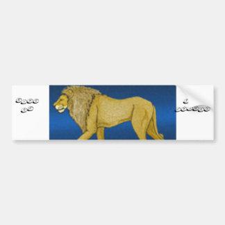 rei do leão do autocolante no vidro traseiro da se adesivo para carro