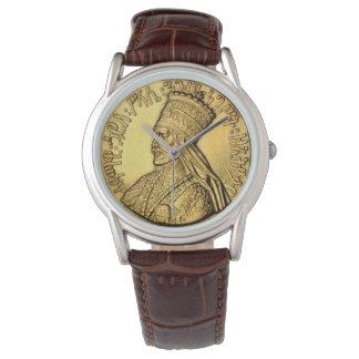 Rei dourado antigo Projeto do relógio de Haile