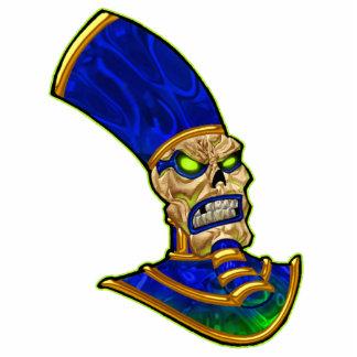 Rei egípcio Crânio Esqueleto Arte do faraó Escultura Foto