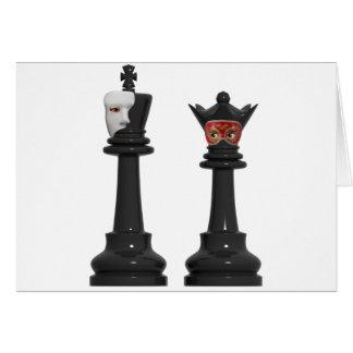 Rei fantasma da xadrez e cartão de aniversário