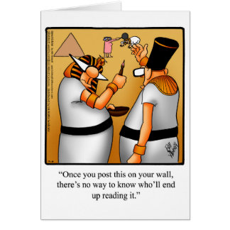 Rei feliz engraçado Tut Dia Cartão