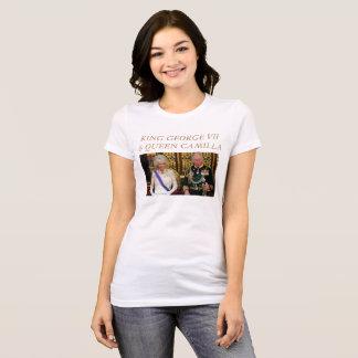 REI GEORGE VII e RAINHA CAMILLA Camiseta