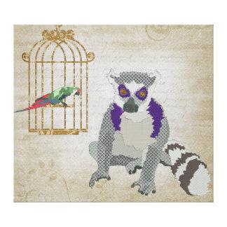 Rei Jullian & arte das canvas do Macaw de Molly Impressão Em Tela
