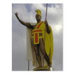 Rei Kamehameha Cartão de Havaí Cartao Postal