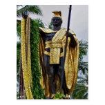 Rei Kamehameha Cartão de Havaí Cartões Postais