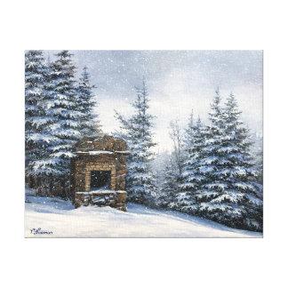 Rei lareira de pedra do Mt Starr - canvas 11x14