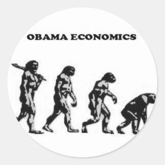 Rei Obama-Não! Adesivos Redondos