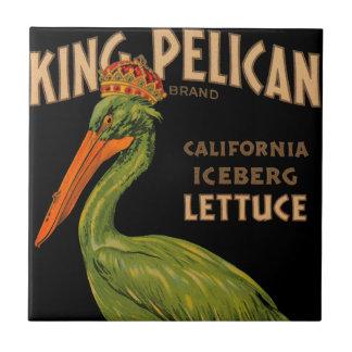 Rei Pelicano Marcagem com ferro quente Alface