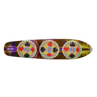 REI símbolos do PÓQUER: Supersónico sobrecarregado Shape De Skate 18,7cm