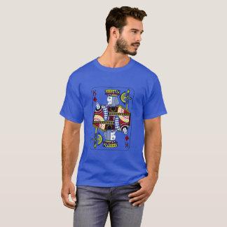"""""""Rei t-shirt dos azuis marinhos dos diamantes"""" Camiseta"""