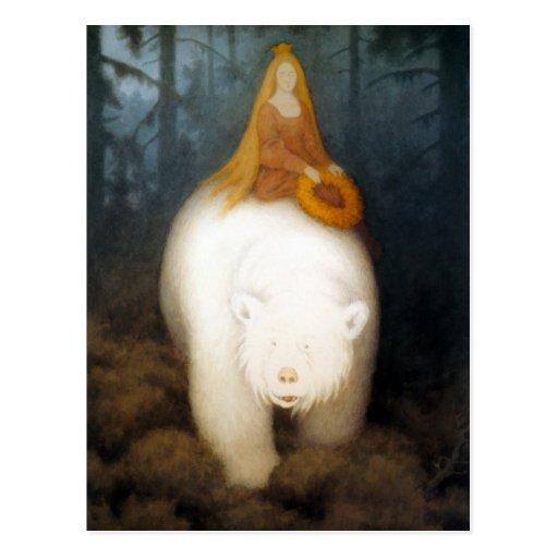 Rei Valemon do urso branco Cartao Postal