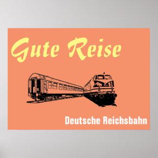 Reichsbahn alemão poster