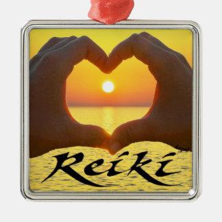 Reiki, coração, mãos, Sun, energia cura, ornamento