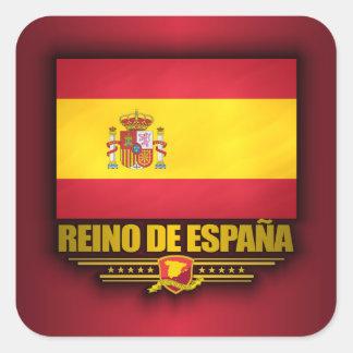 Reino de Espana Adesivo Quadrado