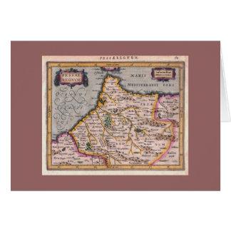 Reino de Fes, mapa antigo - cartão