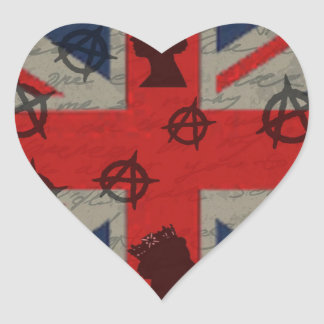 Reino Unido Adesivo Coração