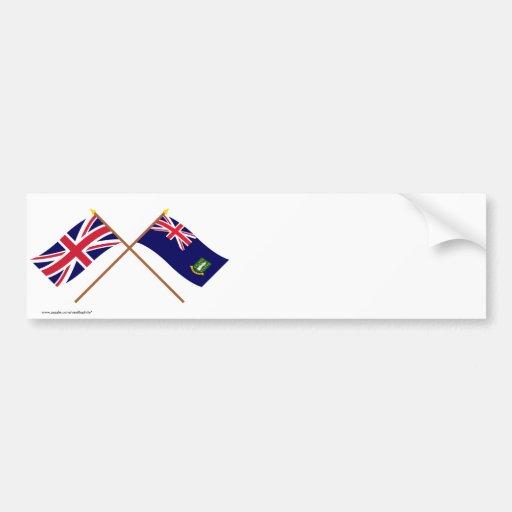 Reino Unido e bandeiras cruzadas British Virgin Is Adesivo