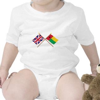 Reino Unido e bandeiras cruzadas Guiné-Bissau Macacãozinhos Para Bebê
