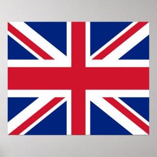 Reino Unido/Ingleses/poster bandeira de Union Jack