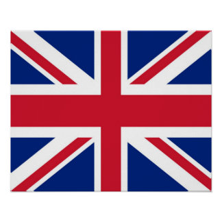 Reino Unido/Ingleses/poster bandeira de Union Jack Poster