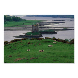 Reino Unido, Scotland, ilha de Skye, velha Poster