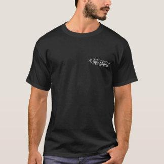 Reinos da fortaleza - logotipo - preto camiseta
