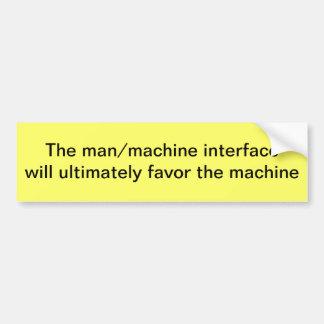 Relação do homem/máquina adesivo