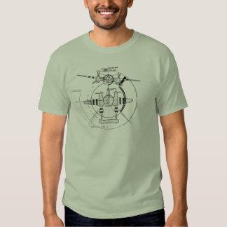 Relâmpago de P-38J técnico Tshirts