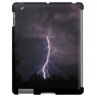 Relâmpago no exemplo do iPad do céu nocturno Capa Para iPad