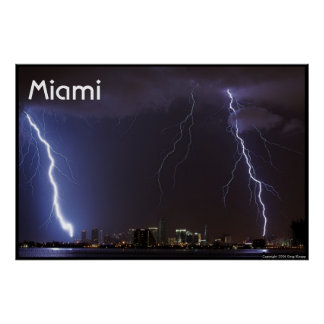 Relâmpago sobre Miami Poster