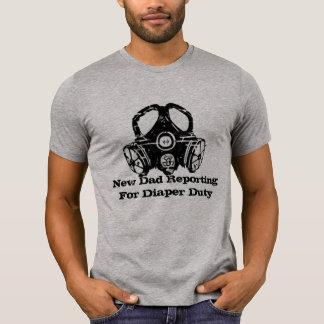 relatório do novo papai para camisetas engraçadas