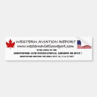 Relatório ocidental da aviação - Abbotsford 45th I Adesivo Para Carro