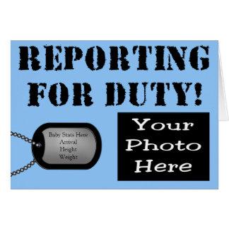 Relatório para o anúncio militar do nascimento do