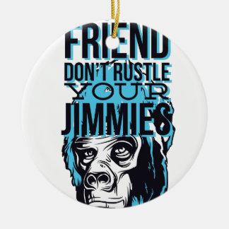 relaxe amigos não rustle, para monkey ornamento de cerâmica