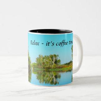 Relaxe - é caneca de café do tempo do café