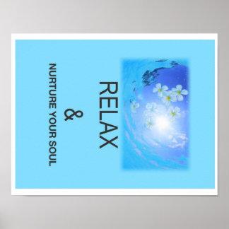 Relaxe e consolide sua alma poster