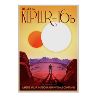 Relaxe em Kepler-16b Pôster