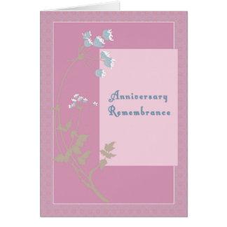 Relembrança do aniversário para passar da esposa cartão comemorativo