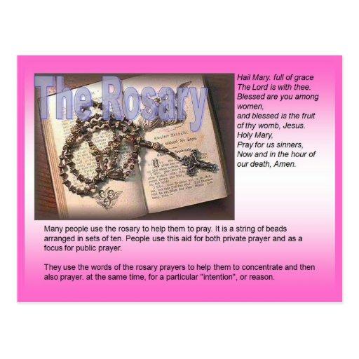 Religião, católico romano, rosário cartoes postais