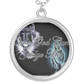 religião colar banhado a prata