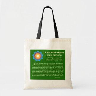 Religião da ciência da harmonia bolsa tote