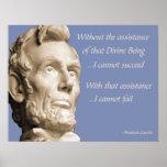 Religião de Abraham Lincoln Posters