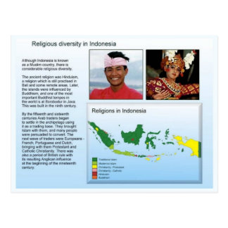 Religião, diversidade religiosa em Indonésia Cartão Postal