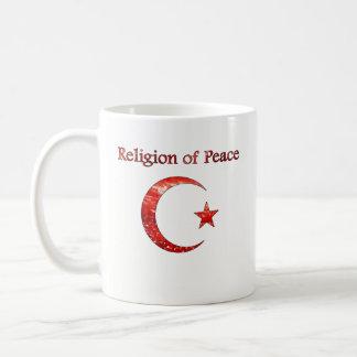 Religião do Islão da caneca de café da paz -