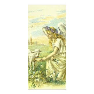 Religião do vintage, anjo da páscoa do Victorian 10.16 X 22.86cm Panfleto