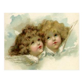 Religião do vintage, anjos do Natal do Victorian Cartão Postal