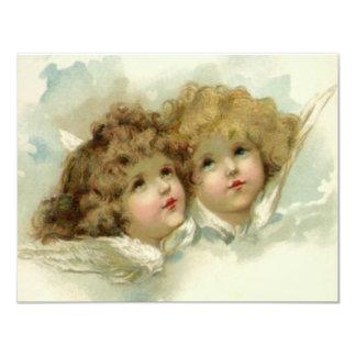 Religião do vintage, anjos do Natal do Victorian Convite