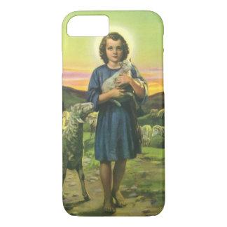 Religião do vintage, menino do pastor com capa iPhone 7