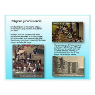 Religião, grupos religiosos em India Cartao Postal